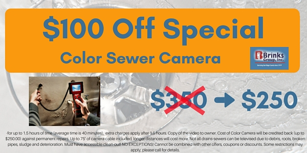 $100 Off Color Sewer Camera Service