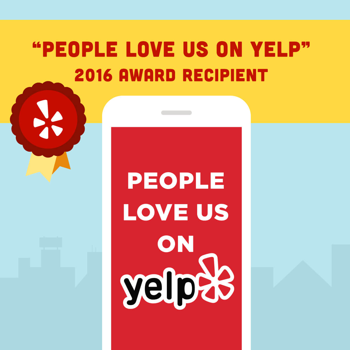People Love Us On Yelp 2016 Award