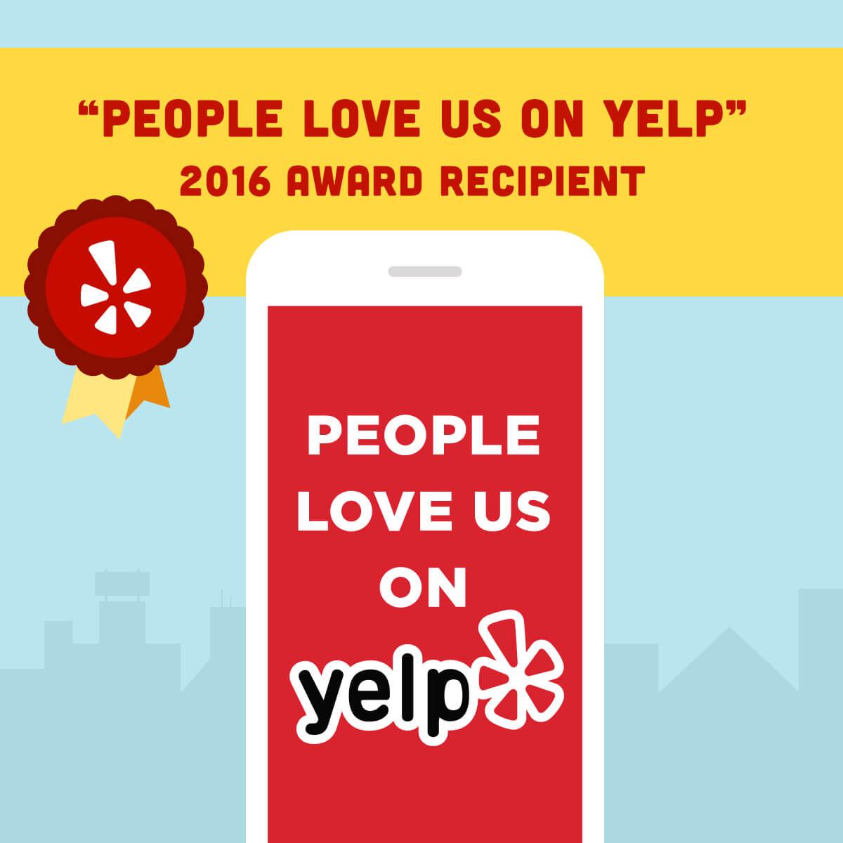 People Love Us On Yelp 2016 Award