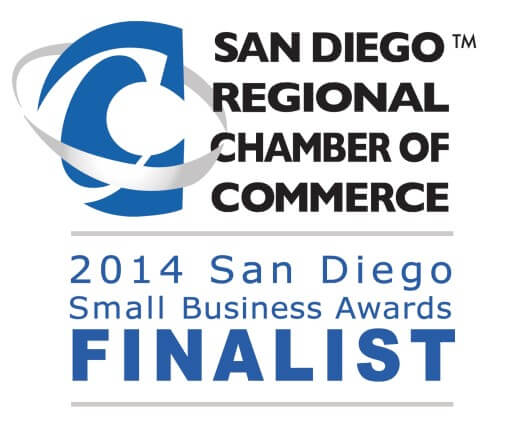 San  Diego Regional Chamber Of Commerce 2014 Small Business Award Finalist