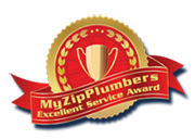 My ZipPlumbers Service Award Logo
