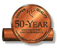50-year copper quality badge